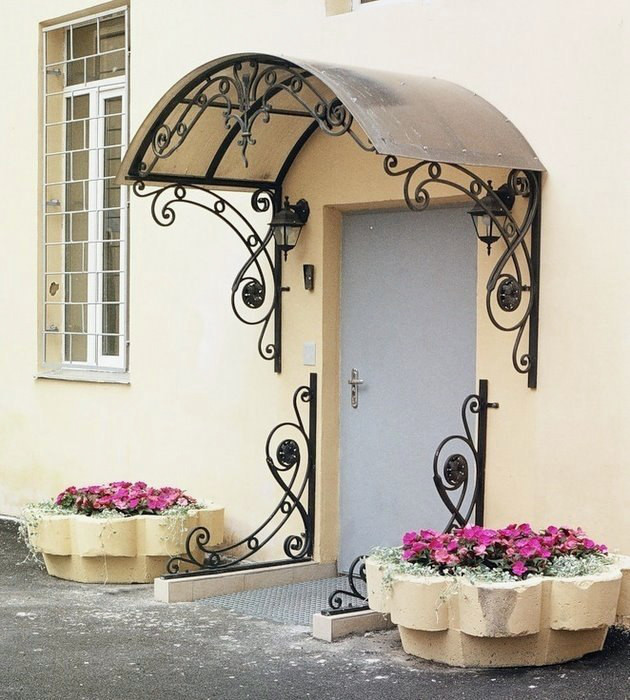 Wrought Iron Used for Entryway