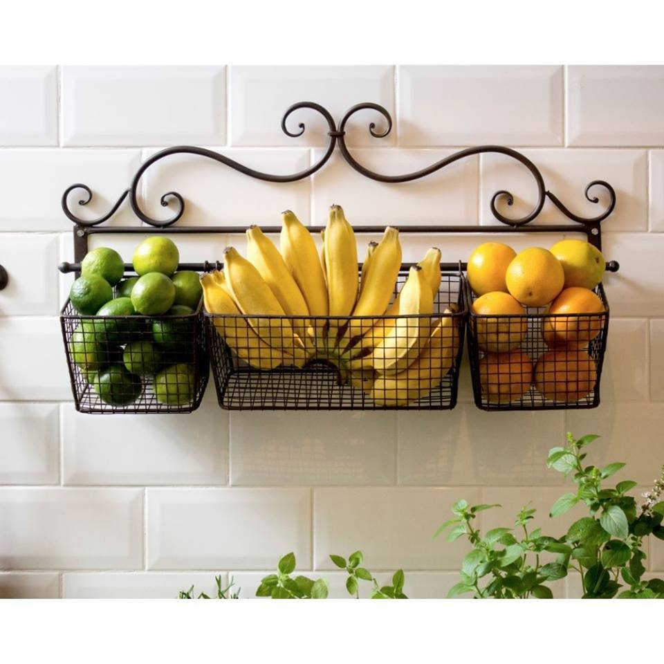 Wrought Iron Shelves Used in Kitchen