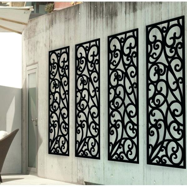 Panel Wrought Iron Wall Decor