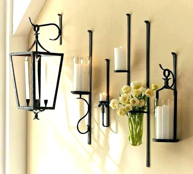 Wall Candle Holders Made of Wrought Iron