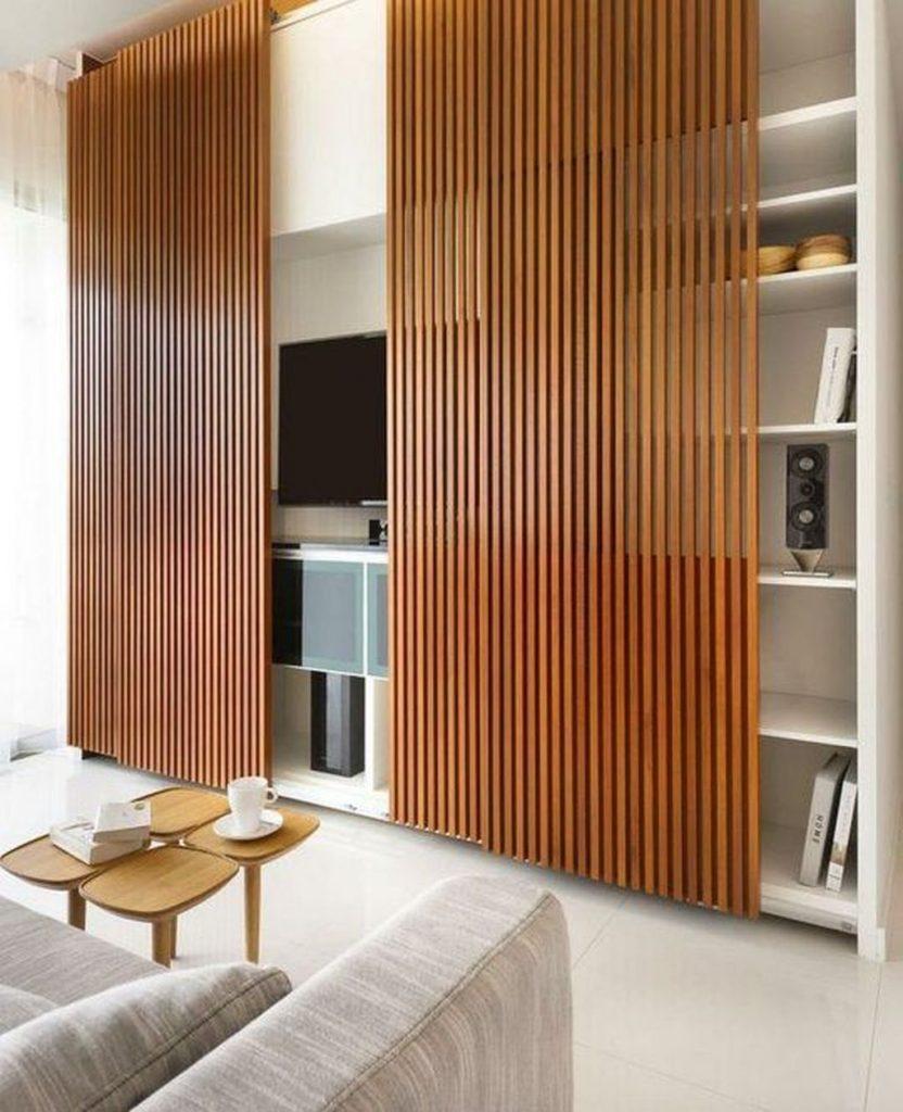 wood slats door