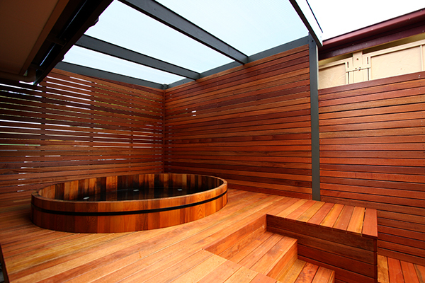 softwood slats outdoor privacy screen