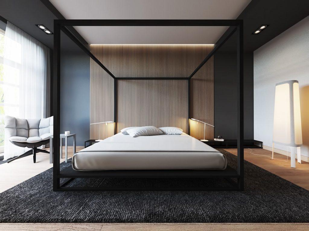 bedroom wood wall decor