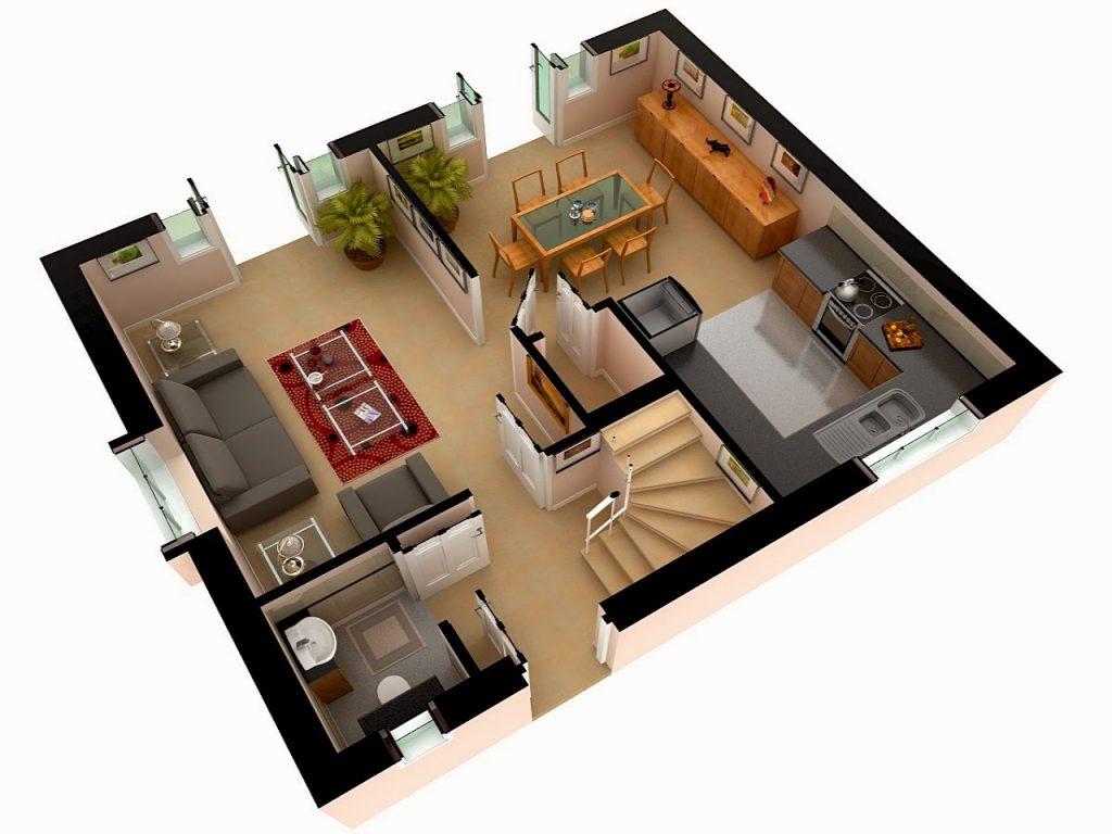 house 3D plan