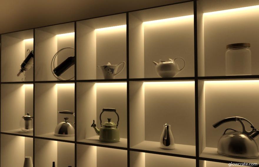 LED Light Shelves To Create Incredible Display