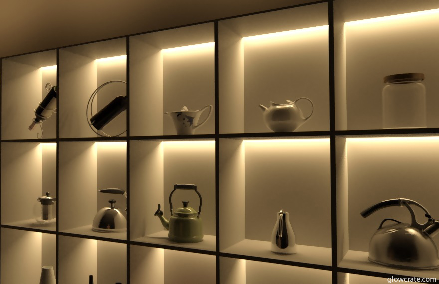 Led Light Shelves To Create Incredible
