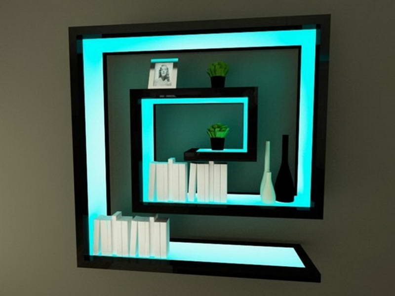 Led Light Shelves To Create Incredible Display Decor