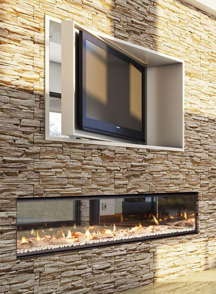 fireplace TV wall units