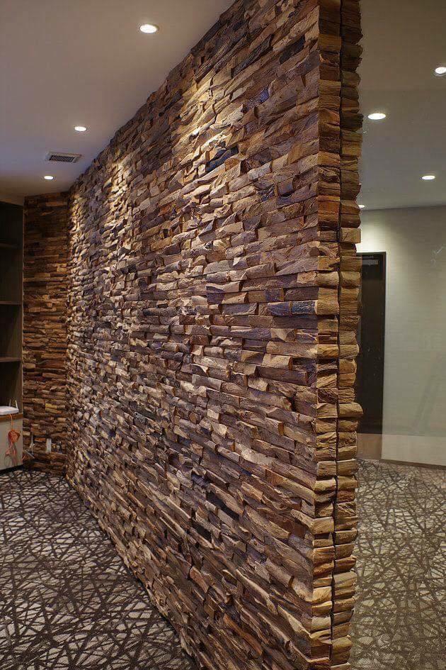 wall of stacked bricks