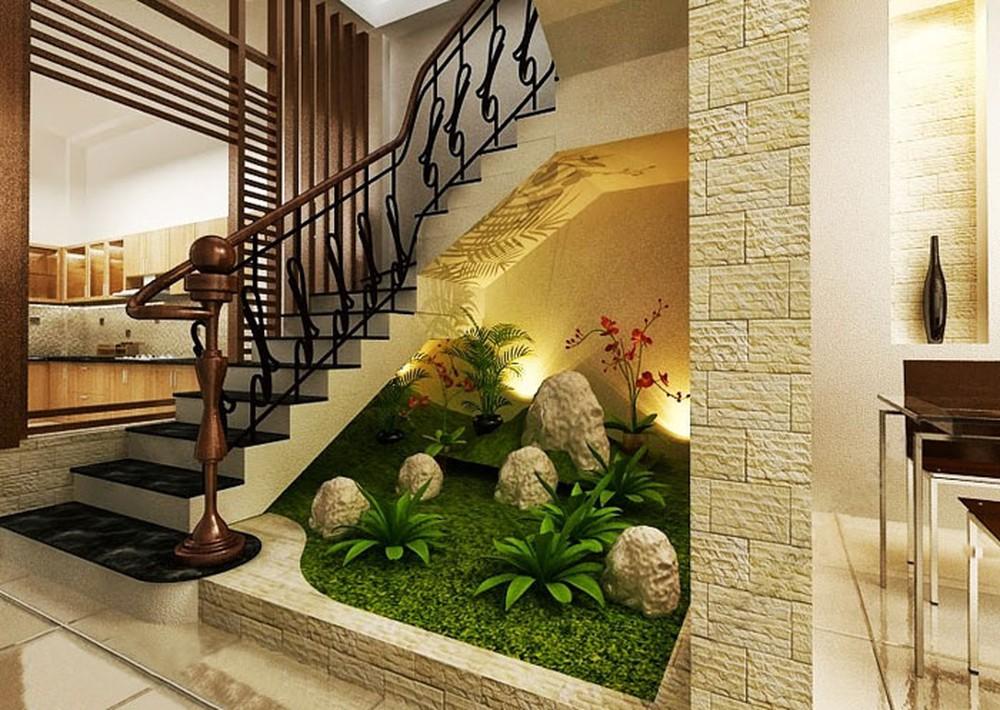 Vibrant Under The Stairs Garden Decor Inspirator
