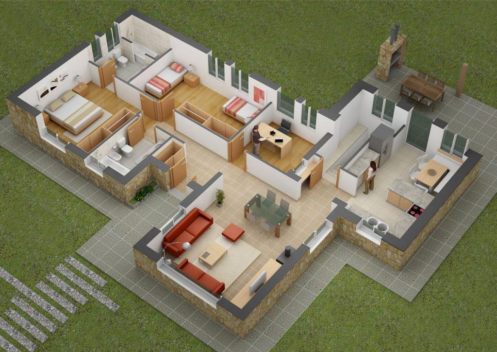 nice floor plan 3D