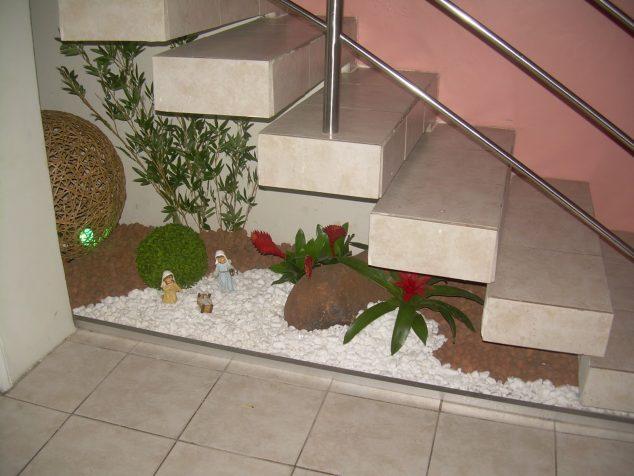 under the stairs garden