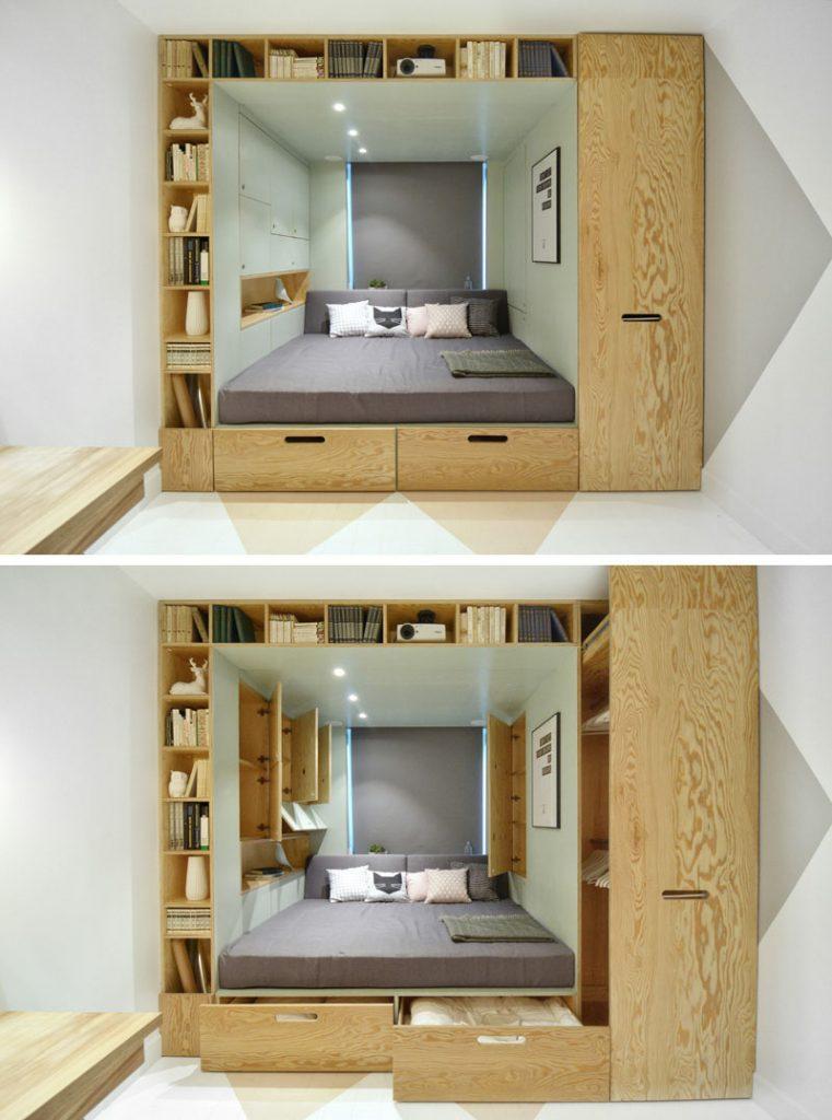bed built-in