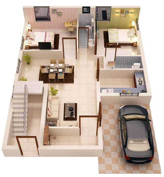 Abosolutely Smart 3D Home Plans