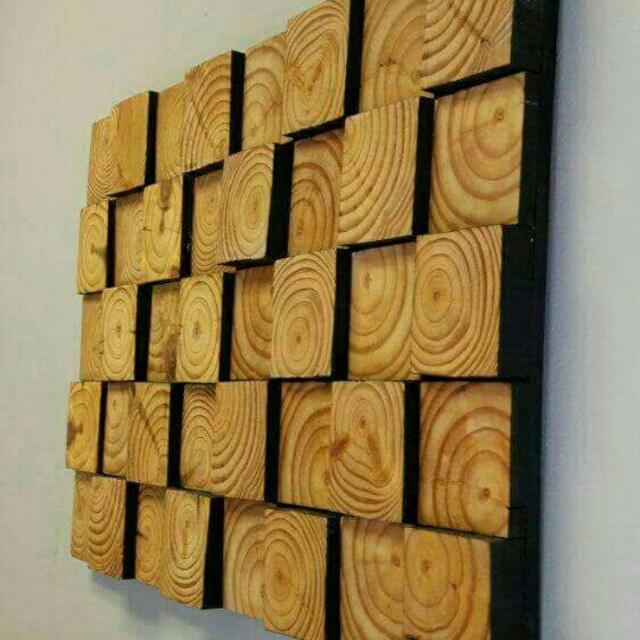 wall art with wood
