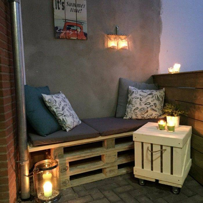 pallet bed balcony