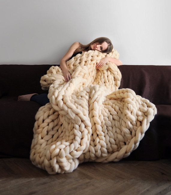 DIY knit blanket