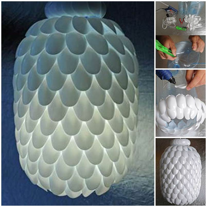 plastic spoons lampshade