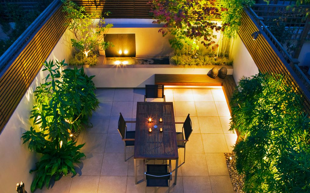 Ideas on How to Decorate Impressive Small Courtyard ... on Small Backyard Patio Designs id=24203