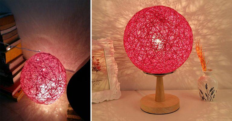 DIY twine lampshade