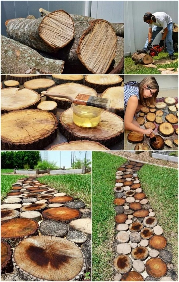 DIY garden pathways