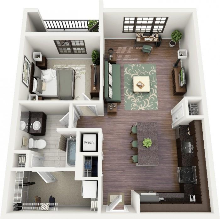 Bhk Home Designs Decor Inspirator 1 Interior Design Images