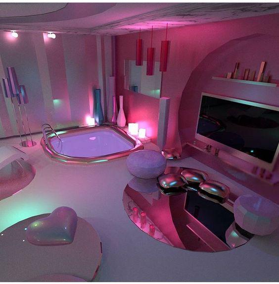 pink interior design