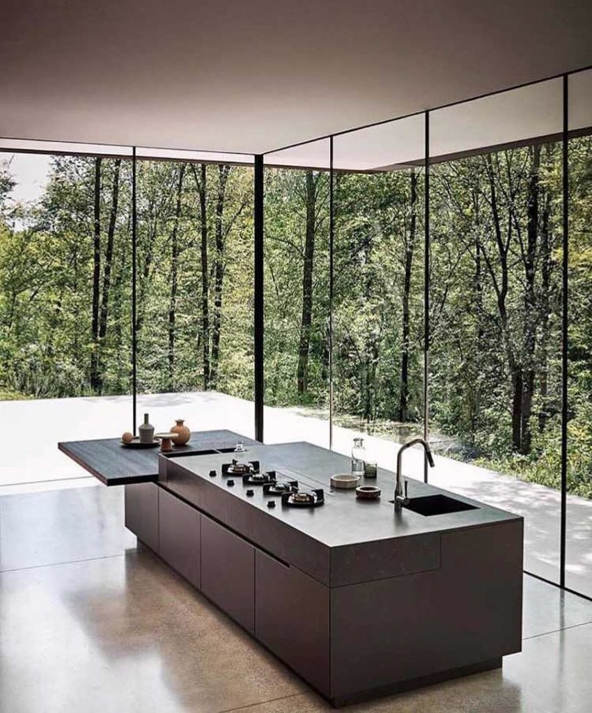 house glass walls