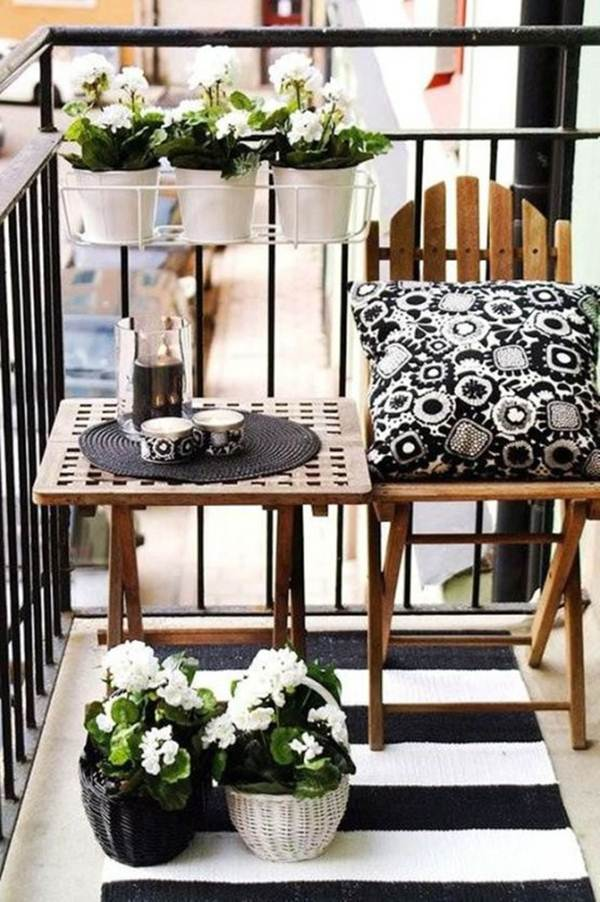 black and white balcony