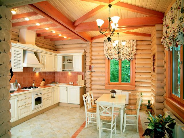 wooden cottage decor