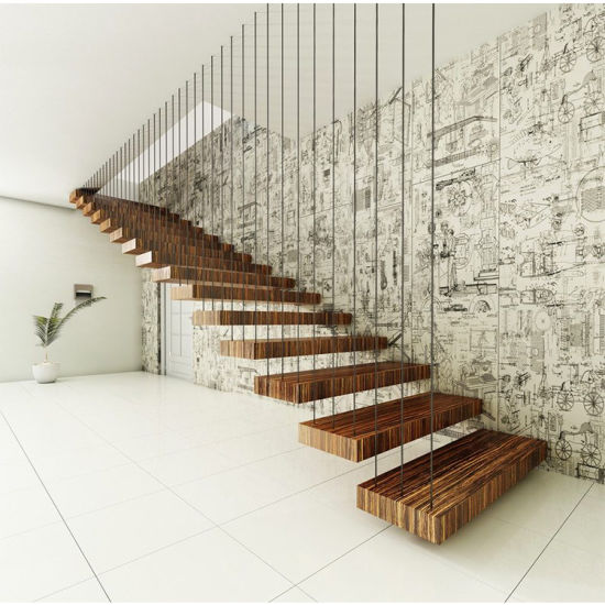 wooden floating steps