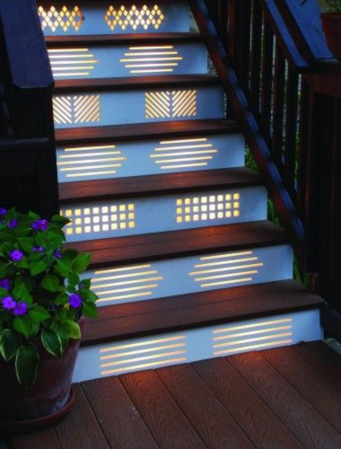 outdoor stairs lighitng