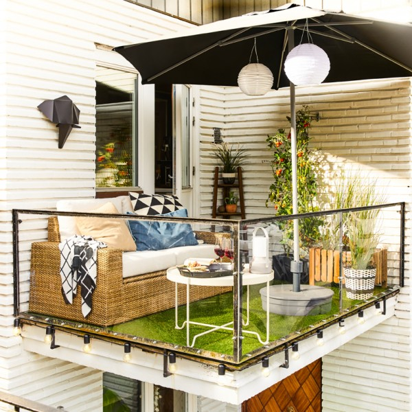 small balcony place