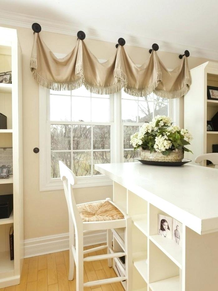 hang curtains in kitchen