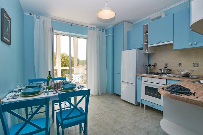 amazing blue kitchen cabinet