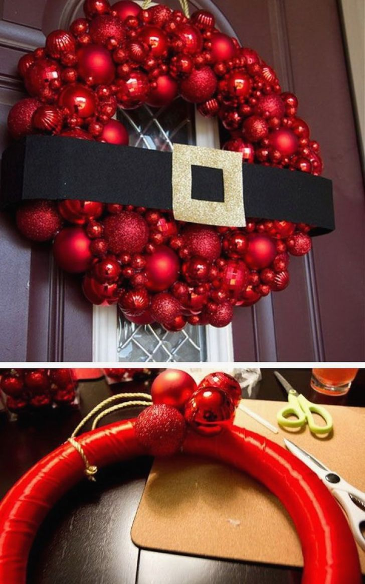 Christmas decor front door