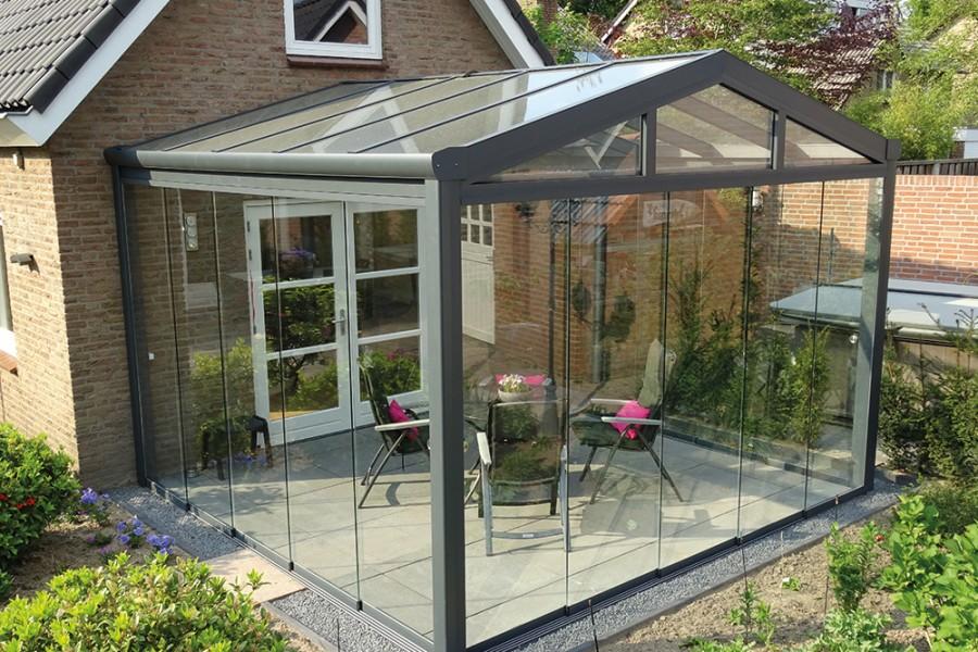 glass walls terrace