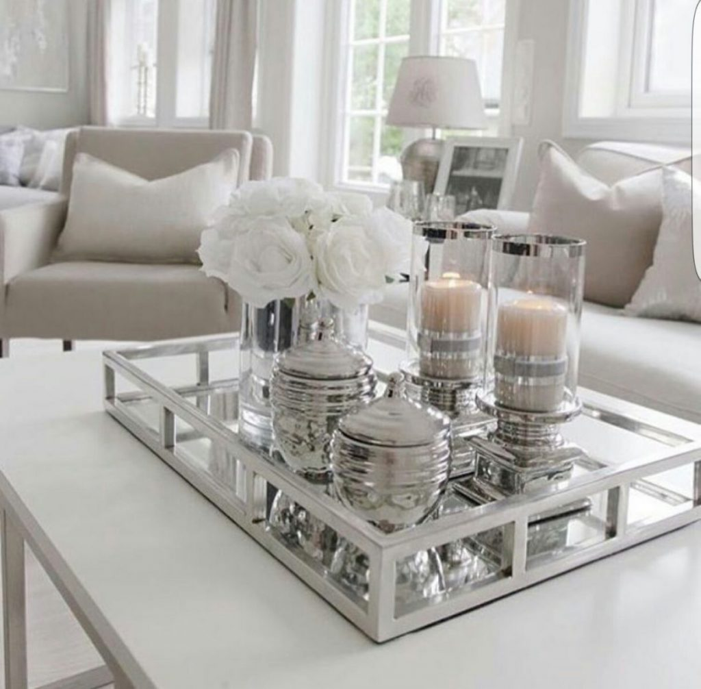 coffee table setting decoration