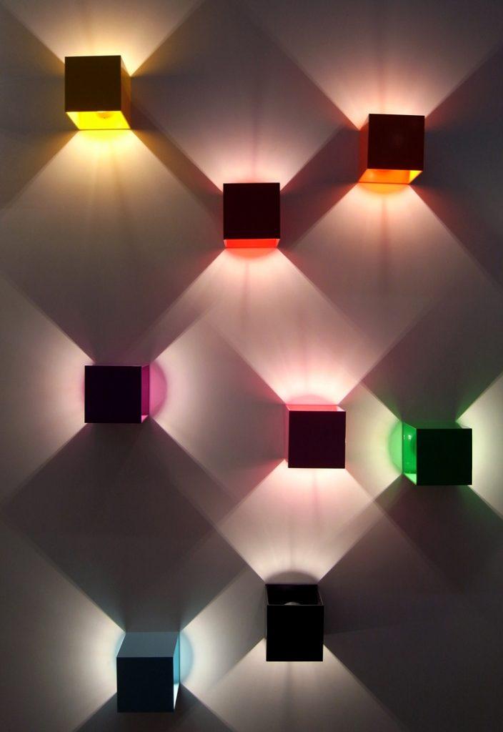 geometric wall lights