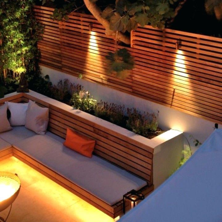 Contemporary Backyard Lighting Ideas, Outdoor Fence Lighting Ideas