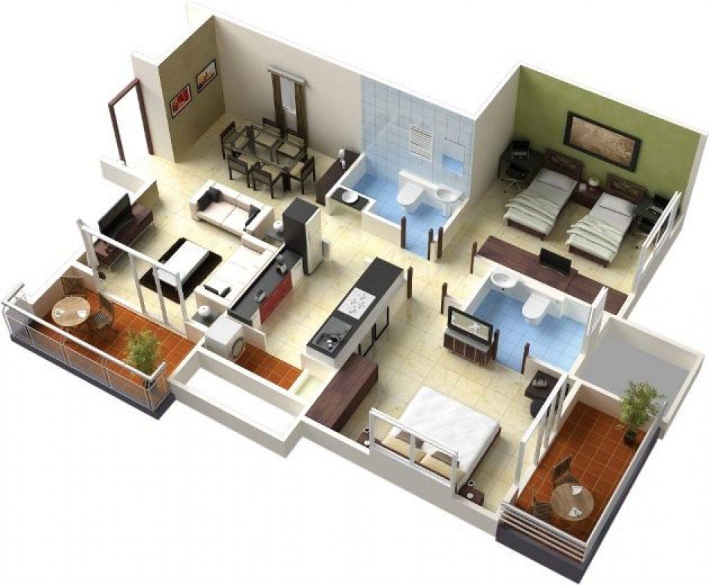 1000 square feet house plan