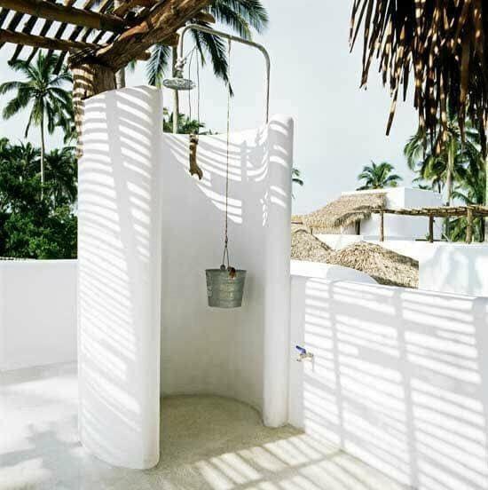 stones showering room
