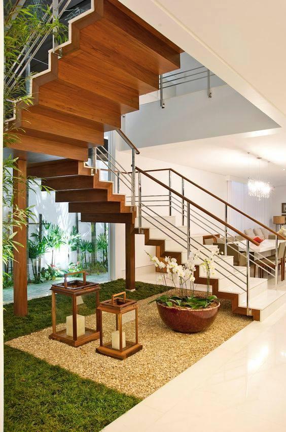 under the stairs mini garden