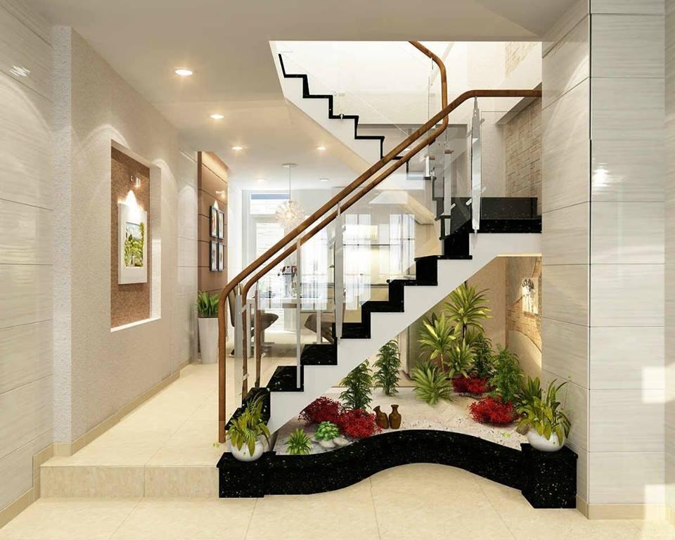 garden under the stairs