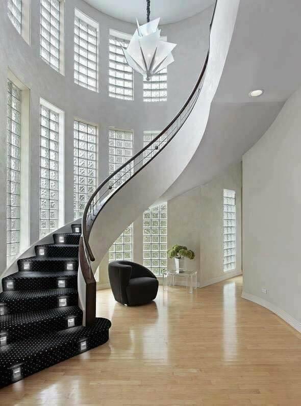 black indoor stairs