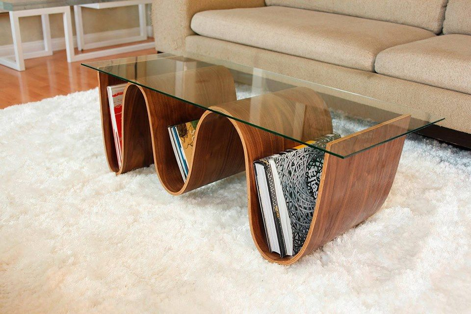 perefct coffee table with library