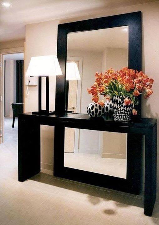 black frames mirror