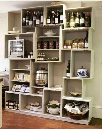 kitchen walls shelves