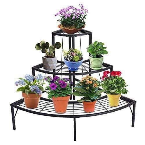 wrought iron flower pots