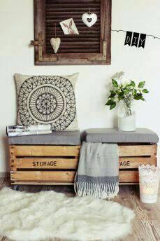 wooden box seating sofa